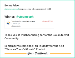SoCalSteemit Steemseph win contest